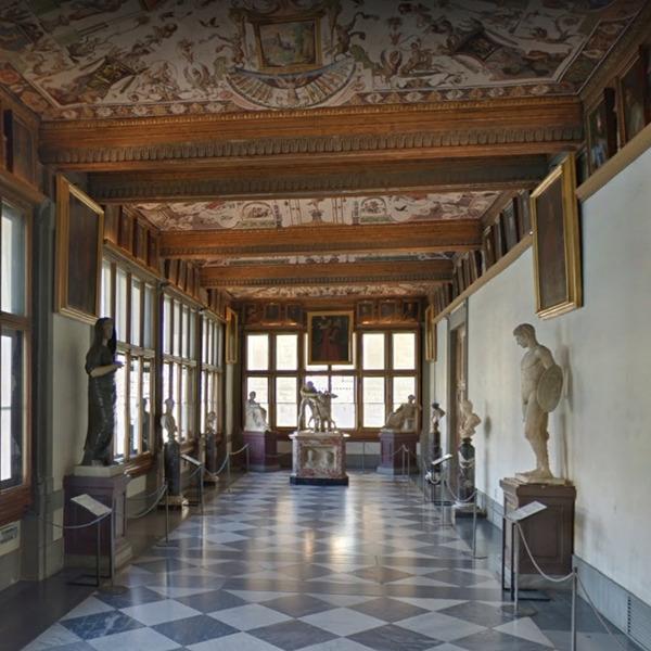 Visita virtuale interattiva agli Uffizi di Firenze