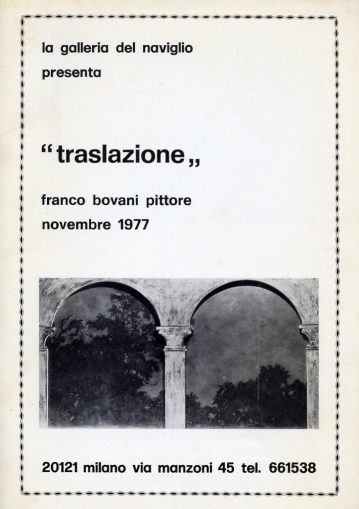Traslazione - Franco Bovani Pittore