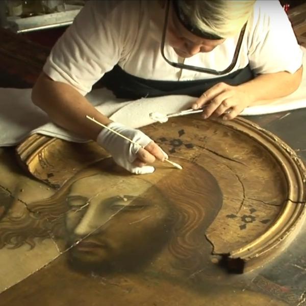 La video-storia del restauro della Croce dipinta dal Maestro di Figline