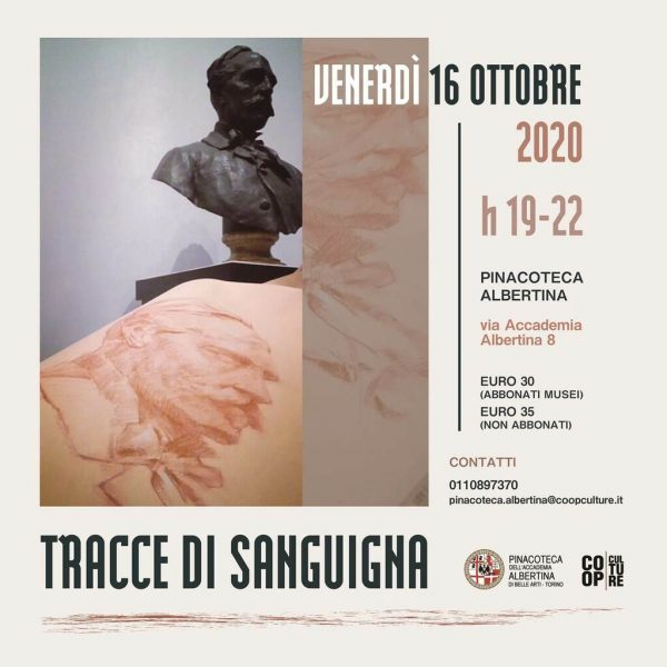 """Workshop serale all'Accademia Albertina: """"Tracce di sanguigna"""""""
