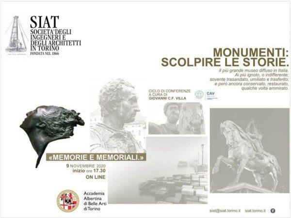 """Conferenza online: """"Monumenti. Scolpire le storie. Memorie e memoriali"""""""