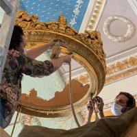 Il restauro degli arredi dell'ala dell'Ottocento della Reggia di Caserta