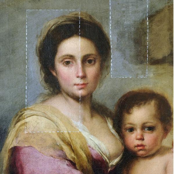 I primi risultati del restauro della Madonna del latte di Murillo rivelano la presenza di un altro dipinto