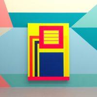 Peter Halley - Mostra installazione site specific