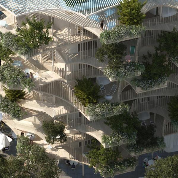 Nicolas Laisné Architectes. One open tower