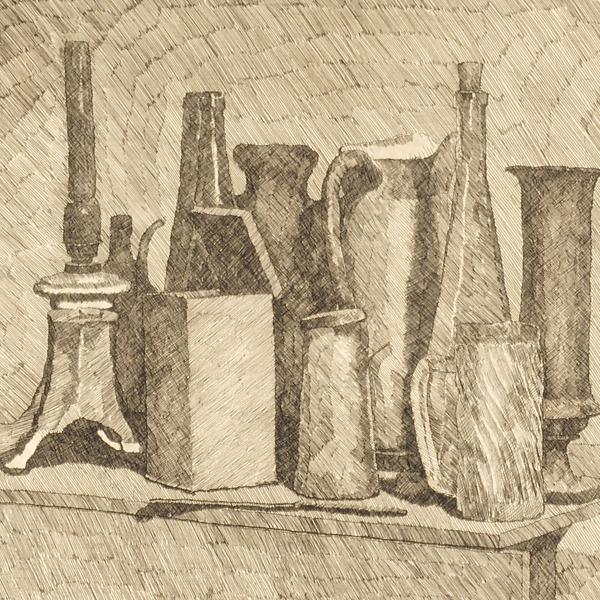 Re-collecting. Morandi racconta. Il segno inciso: tratteggi e chiaroscuri