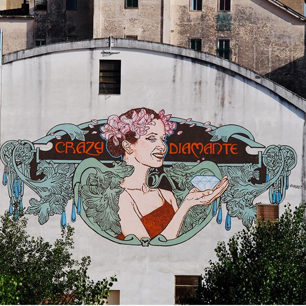 Diamante Murales celebra il quarantennale tra street art, mostre e incontri