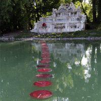 Gloria d'amore 2021. Water art per la Peschiera del Parco Ducale