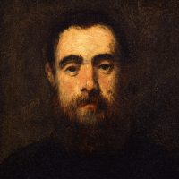 Self-reflection. Omar Galliani - Lorenzo Puglisi - Tintoretto