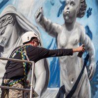 """Wall of Art"". Performance di pittura di Ozmo"