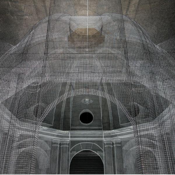 Sacral. Installazione di Edoardo Tresoldi