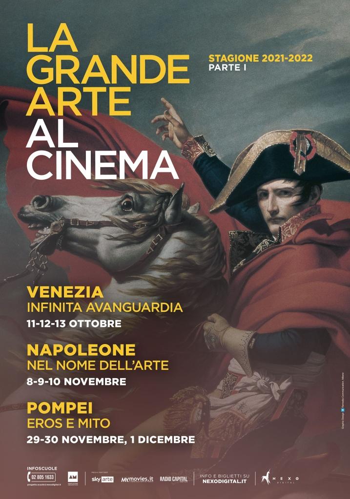 La Grande Arte torna al cinema con tre nuovi docu-film su Venezia, Napoleone, Pompei